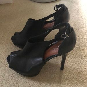 Aldo Shoes - Aldo Black Open Toe Platform Heels -Size 41